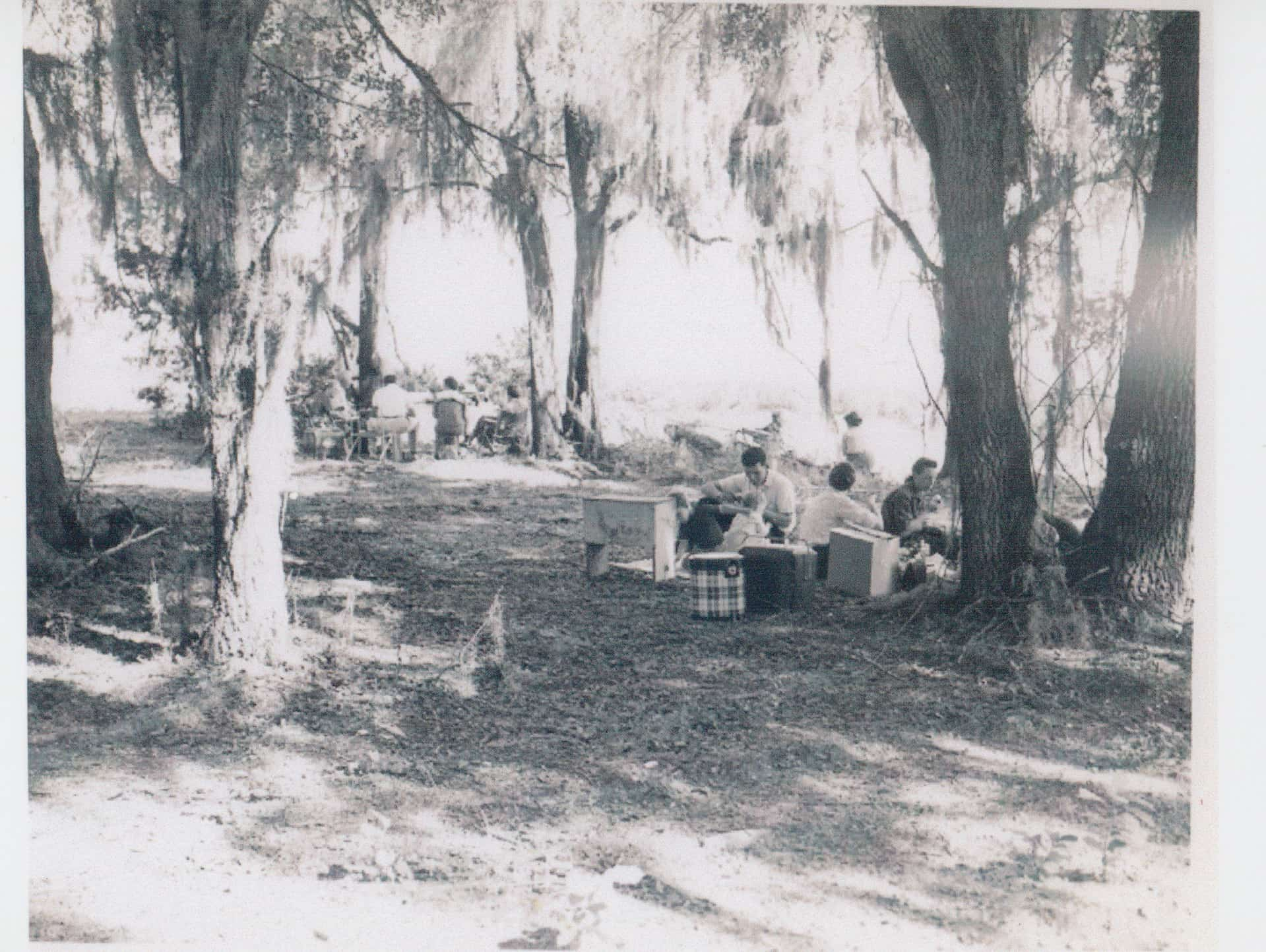 Old photo showing the history of Honey Creek.